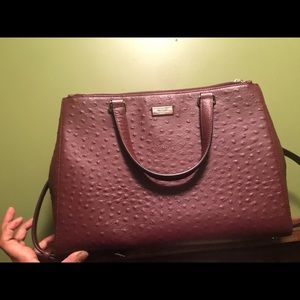 Kate spade ostrich leather purse